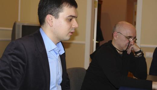 организатор вечера Равиль Закиров (Санкт - Петербург) и снс музея композитора Назиба Жиганова Алексей Егоров (Казань)