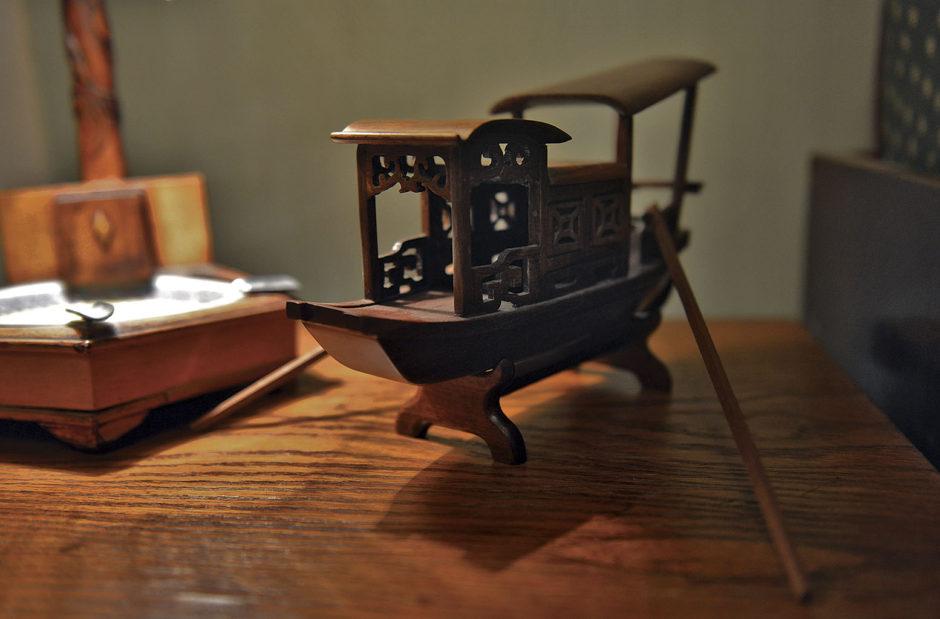 Модель речной лодки «Джонка» композитора Назиба Жиганова